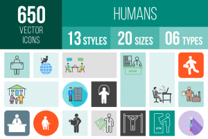 Humans Icons Bundle - Overview - IconBunny