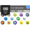 1000 Flat Shadowed Icons Bundle - Overview - IconBunny