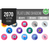 2070 Flat Shadowed Icons Bundle - Overview - IconBunny
