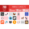 Animals & Insects Icons Bundle - Overview - IconBunny