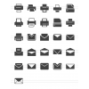 26 Email & Printers Glyph Icons - Preview - IconBunny