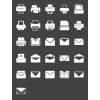 26 Email & Printers Glyph Inverted Icons - Preview - IconBunny