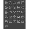 26 Email & Printers Line Inverted Icons - Preview - IconBunny