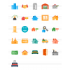 26 Real Estate Flat Multicolor Icons - Preview - IconBunny