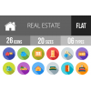 26 Real Estate Flat Shadowed Icons - Overview - IconBunny
