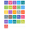 26 Real Estate Line Multicolor B/G Icons - Preview - IconBunny