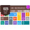1025 Line Multicolor B/G Icons Bundle - Overview - IconBunny