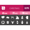 40 Christmas Glyph Inverted Icons - Overview - IconBunny