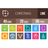 40 Christmas Line Multicolor B/G Icons - Overview - IconBunny