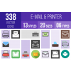 Email & Printers Icons Bundle - Overview - IconBunny
