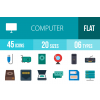 45 Computer & Hardware Flat Multicolor Icons - Overview - IconBunny