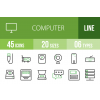 45 Computer & Hardware Line Green & Black Icons - Overview - IconBunny