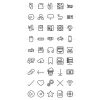 45 Computer & Hardware Line Icons - Preview - IconBunny