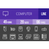 45 Computer & Hardware Line Inverted Icons - Overview - IconBunny