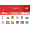 45 Computer & Hardware Line Multicolor Filled Icons - Overview - IconBunny