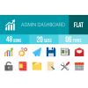 48 Admin Dashboard Flat Multicolor Icons - Overview - IconBunny