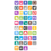 48 Admin Dashboard Flat Round Corner Icons - Preview - IconBunny