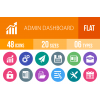 48 Admin Dashboard Flat Round Icons - Overview - IconBunny