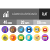 48 Admin Dashboard Flat Shadowed Icons - Overview - IconBunny