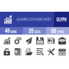 48 Admin Dashboard Glyph Icons - Overview - IconBunny