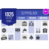 1025 Glyph Icons Bundle - Overview - IconBunny