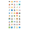 50 Academics Flat Multicolor Icons - Preview - IconBunny