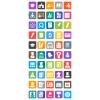 50 Academics Flat Round Corner Icons - Preview - IconBunny
