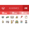 50 Academics Line Multicolor Filled Icons - Overview - IconBunny