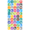 50 Activities Flat Round Corner Icons - Preview - IconBunny