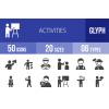 50 Activities Glyph Icons - Overview - IconBunny