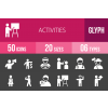 50 Activities Glyph Inverted Icons - Overview - IconBunny