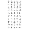 50 Activities Greyscale Icons - Preview - IconBunny