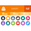 50 Bakery Flat Round Icons - Overview - IconBunny