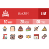 50 Bakery Line Multicolor Filled Icons - Overview - IconBunny