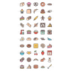 50 Bakery Line Multicolor Filled Icons - Preview - IconBunny