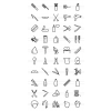 50 Barber's Tools Line Icons - Preview - IconBunny