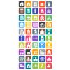 50 Buildings & Landmarks Flat Round Corner Icons - Preview - IconBunny