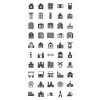 50 Buildings & Landmarks Glyph Icons - Preview - IconBunny