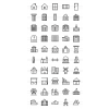 50 Buildings & Landmarks Line Icons - Preview - IconBunny