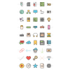 45 Computer & Hardware Line Multicolor Filled Icons - Preview - IconBunny