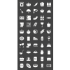 50 Food Glyph Inverted Icons - Preview - IconBunny