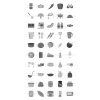 50 Food Greyscale Icons - Preview - IconBunny