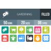 50 Gardening Flat Round Corner Icons - Overview - IconBunny