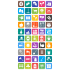 50 Gardening Flat Round Corner Icons - Preview - IconBunny