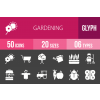 50 Gardening Glyph Inverted Icons - Overview - IconBunny
