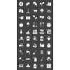 50 Gardening Glyph Inverted Icons - Preview - IconBunny