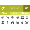 50 Gardening Greyscale Icons - Overview - IconBunny