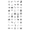 50 Gardening Greyscale Icons - Preview - IconBunny