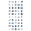 50 Healthcare Blue & Black Icons - Preview - IconBunny