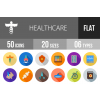 50 Healthcare Flat Shadowed Icons - Overview - IconBunny